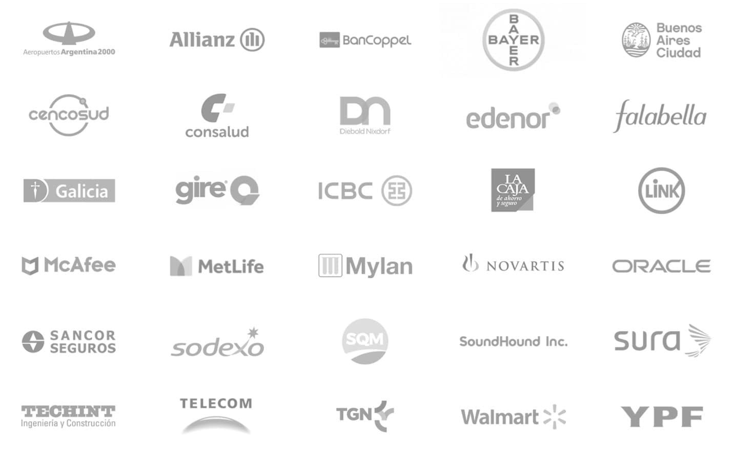 Huenei Clients - Software Company Services